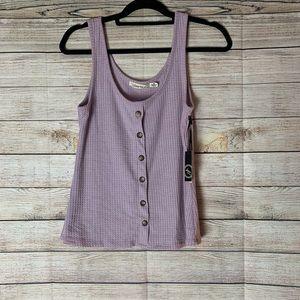 Lavender liberty love waffle knit tank